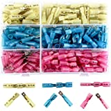 220pcs Wire Spade Connectors, Sopoby Waterproof Heat Shrink Fully-Insulated Female Male Spade Terminals Electrical Crimp Connector Kit