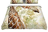 Kess InHouse Wildlife Africa 2'' Brown Animals Twin Cotton Duvet Cover, 68 by 88-Inch