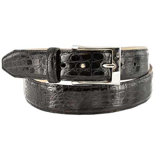 Martin Dingman Men's Belt Dawson Crocodile 38 Black