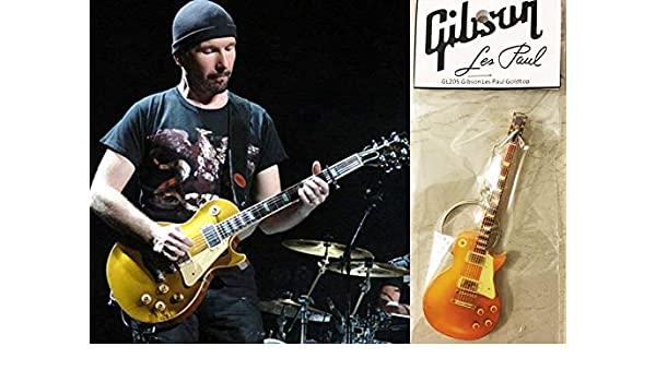 Amazon.com: Keychain Guitar Gibson Les Paul Gold Top The ...