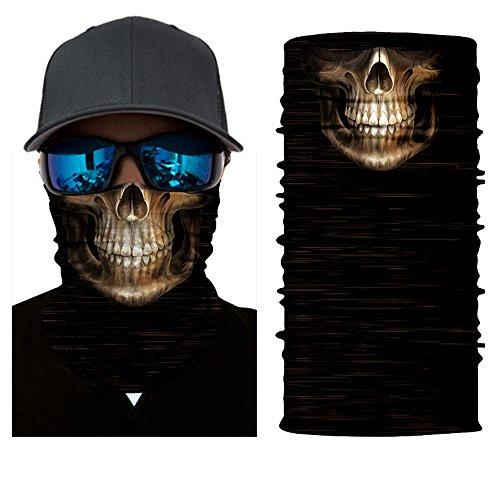 (12-in-1 Magic Scarf,Skeleton Skull Flag Seamless Bandana, Face Mask,fishing mask, Thin Ski Mask, Neck Warmer Balaclava Bandana for Raves, Dust, Riding Bike, Motorcycle, Outdoor Activities)