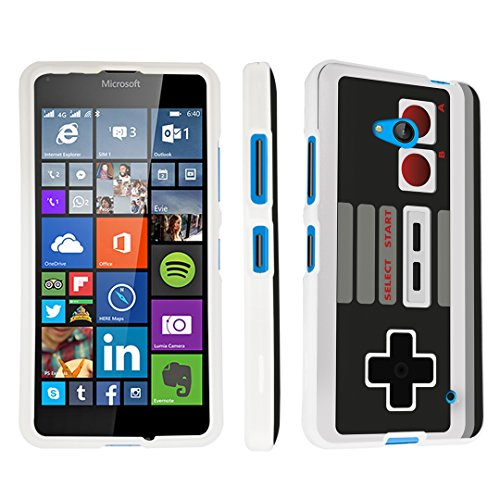 DuroCase ® Microsoft Lumia 640 (for Metro PCS Version ONLY; Released in 2015) Hard Case White - (Game Controller)