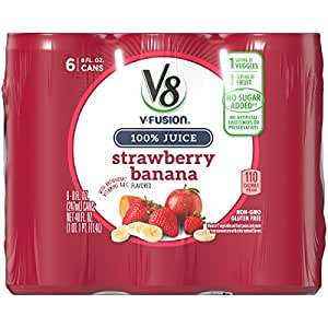 Amazon Com V8 Strawberry Banana 8 Oz Can 4 Packs Of 6 Total Of