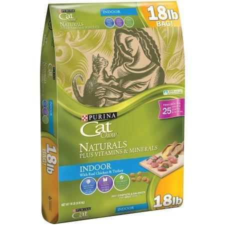 (18 lb Bag Naturals Indoor Plus Vitamins & Minerals Cat Food - 2 pack)