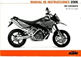 321182ES 2006 KTM 950 Supermoto Motorcycle Owners Manual Paper In Spanish