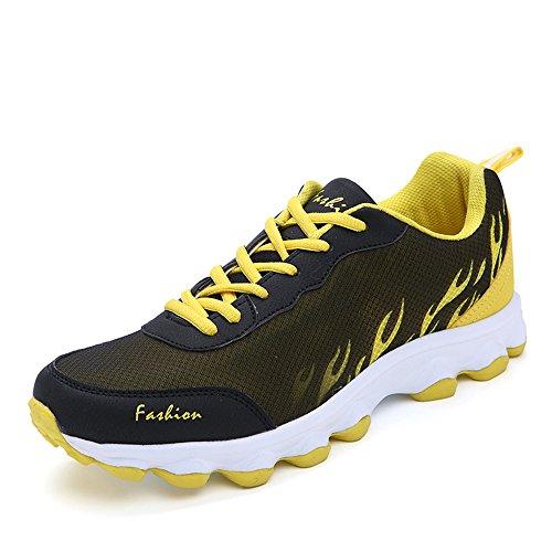 金属無実生産性Sufoen 男女兼用 軽量 ランニングシューズ スポーツ靴 スニーカー カップルシューズ ファッション 通気