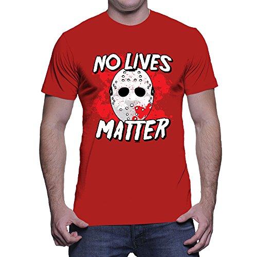 Mens No Lives Matter - Halloween T-shirt (2XL, RED) ()