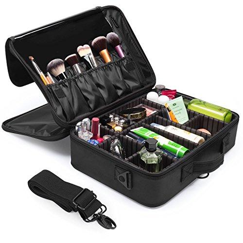 Makeup Train Case, Fortech 3 Layers Portable Travel Makeup C