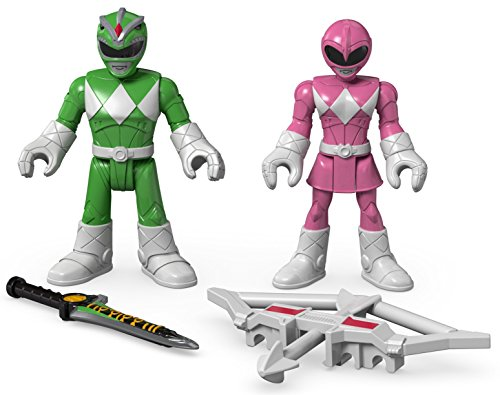 (Fisher-Price Imaginext Power Rangers Green Ranger & Pink Ranger)