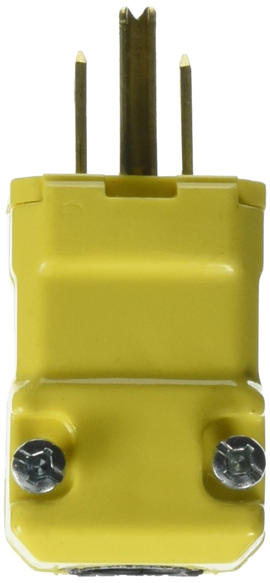 Hubbell HBL5965VY Valise Plug, 15 amp, 125V, 5-15P, Yellow (Pack of 10) by Hubbell