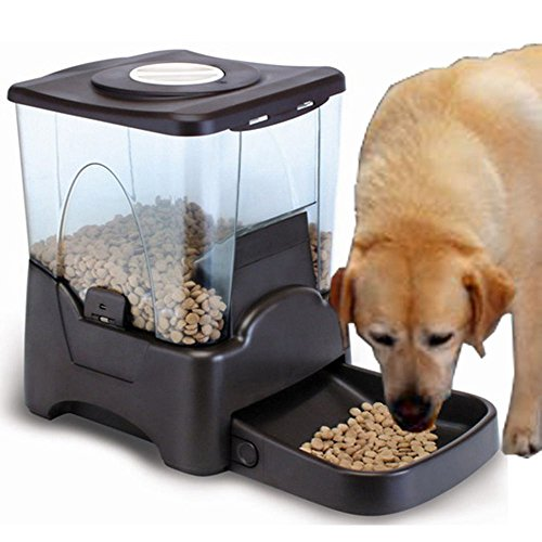 Pet Feeder Cat Dog LCD Display Automatic 10L Voice Recording+Timing Programmable