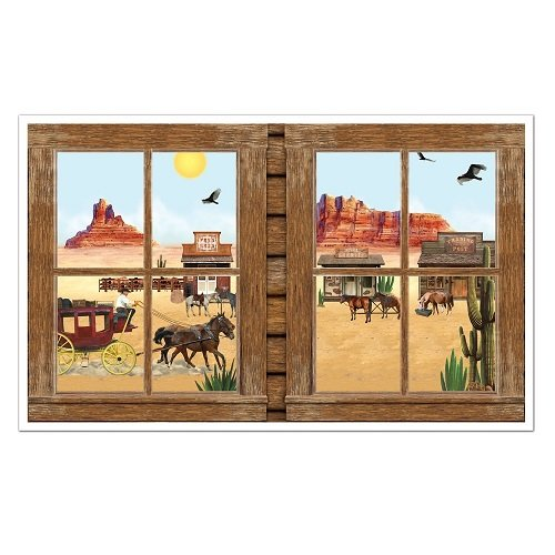 Western Insta-View Party Accessory (1 count) (1/Pkg)]()