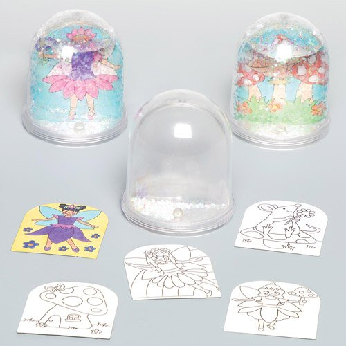 Baker Ross Garden Fairy Color-in Snow Globes for