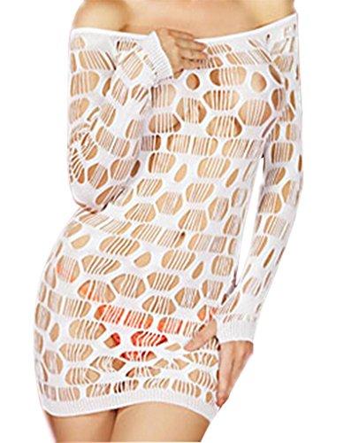 Ailin home- Transparente Spitze Damen Sexy Dessous Sexy Versuchung Sling Rock Spaß Uniformen Unterwäsche ( Farbe : Weiß , größe : M )