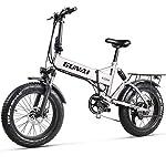 51%2BGijj8QgL. SS150 GUNAI Pieghevole Bici Elettrica,20 Pollice Motore 500W Batteria al Litio 48V12.8AH,Freno a Doppio Disco Bicicletta a…