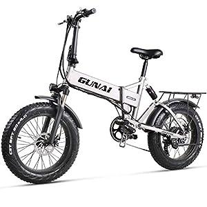 51%2BGijj8QgL. SS300 GUNAI Pieghevole Bici Elettrica,20 Pollice Motore 500W Batteria al Litio 48V12.8AH,Freno a Doppio Disco Bicicletta a…