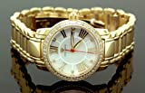 Ladies Baloon Classic Diamond Aqua Master Watch Yellow w319e