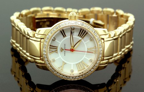 Ladies Baloon Classic Diamond Aqua Master Watch Yellow w319e by IcedTime
