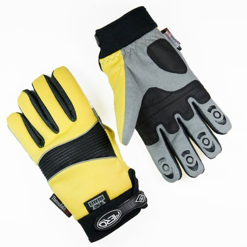 Aero Sport® Aero ShieldTM 3M Scotchlite-Thinsulate Hi-Visibility Windbreaker Waterproof Glove Hi-Viz Yellow Medium