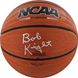 NCAA Indiana Hoosiers Bob Knight Autographed Wave Basketball, Brown
