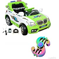 WHEEL POWER Battery Operated Ride ON CAR 20X8 Green- White