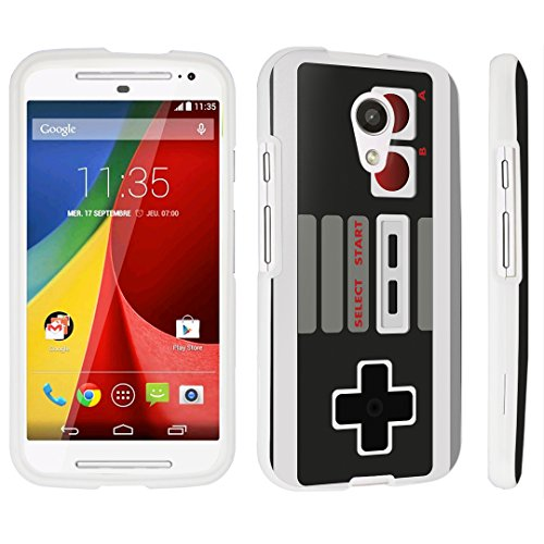 Cheap DuroCase ® Motorola Moto G 2nd Gen. 2014 Hard Case White – (Game Controller)