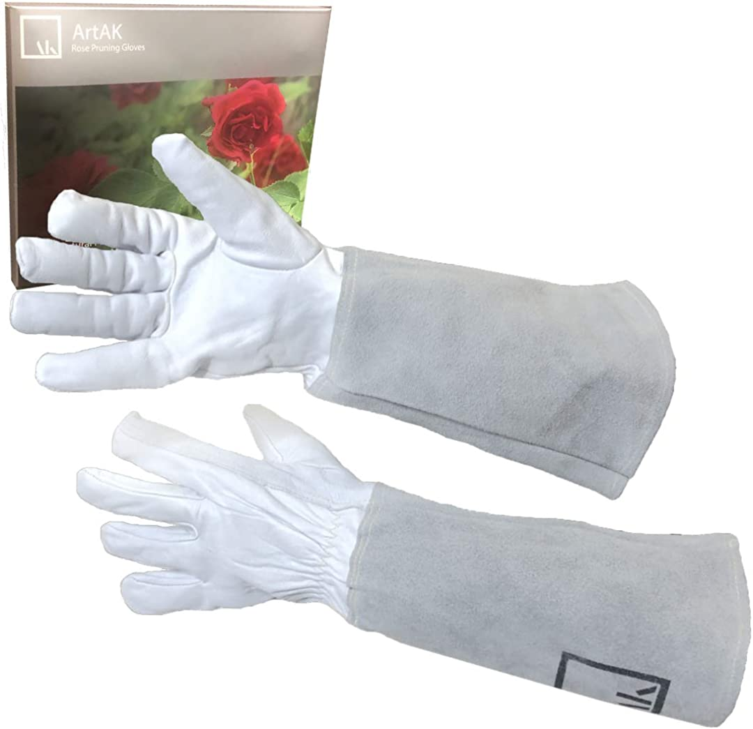 ArtAK Rose Pruning Gloves Leather Gardening Gloves Thorn Proof Long Sleeve Rose Gloves Cactus