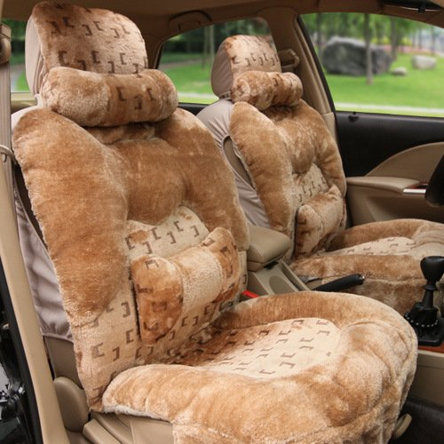 AMYMGLL Car accessories high - end seat cover warm five - seat general 10 sets of plush spring and autumn winter 3 - color choice , #32