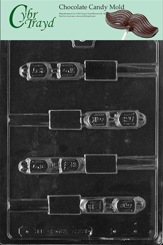 Cybrtrayd R055 Dreidle Pretzel Pop Chocolate Candy Mold with Exclusive Cybrtrayd Copyrighted Chocolate Molding Instructions plus Optional Candy Packaging Bundles