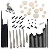 Dovewill 9Set Clarinet Repair Screw Accessory Spring Leaf Spring Needle Tone Hole Mat
