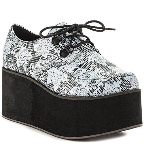 Iron Fist Women's Black Midnight Widow Creeper Flat Shoes (7) (Iron Fist Flats Size 7)