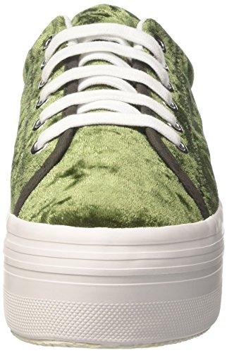 Jcpzomgvelvet Jeffrey sole Campbell Zapatillas Plataforma Con white Green Mujer Verde velvet 55Zrvqgwx