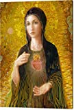 ''Immaculate Heart Of Mary'' by Smith Catholic Art, Canvas Print Wall Art, 48'' x 60'', Mirrored Gallery Wrap, Glossy Finish