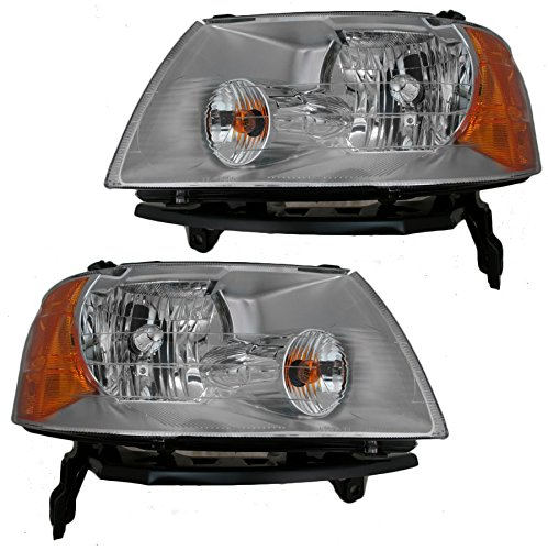 (Headlights Headlamps Left & Right Pair Set for 05-07 Ford Freestyle)