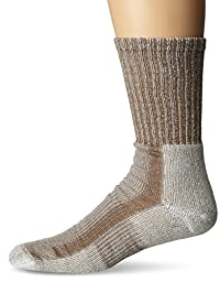 Thorlos Mens Lite Hiking Moderate Padded Crew Socks,Walnut Heather,Large