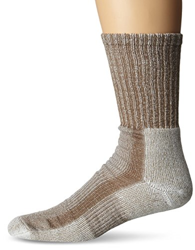 Thorlo Mens Coolmax Lt Hiker Crew Sock Walnut Heather Large