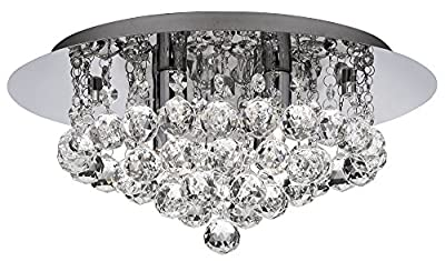 Ultra Modern 4 Light Crystal Glass Flush Ceiling Light Fitting By Haysom Interiors