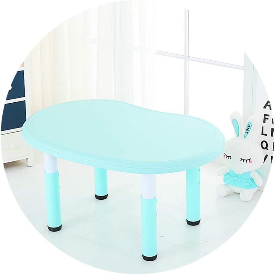 SSHHM Children Table,Adjustable Height,Peanut Shape Plastic Activity Desk Nursery Environmental Protection/Green / 31.5×21.7in