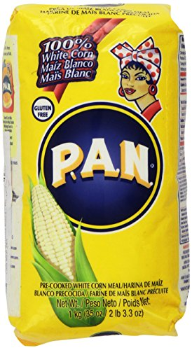 P.A.N Harina Blanca - Pre-cooked White Corn Meal 2lbs 3.3oz by PAN