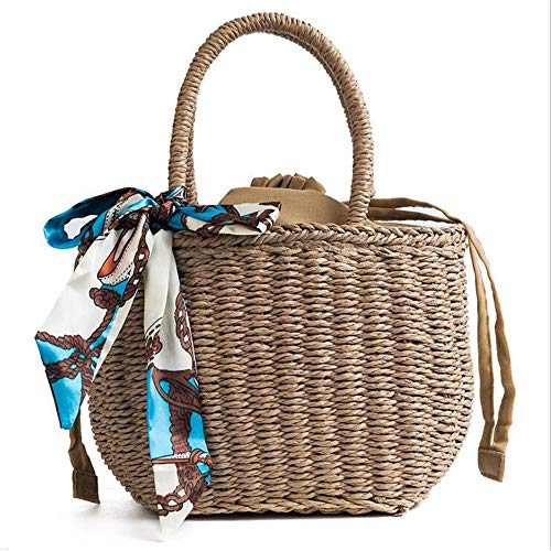 LANGUANGLIN Sac à Bandoulière Portable/Wild Beach Woven Shoulder Bag Sac à Main Messenger Bag