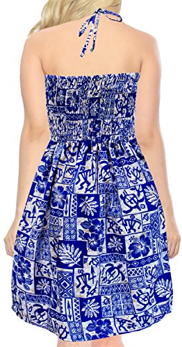 Bleu Cou Couvrir Jupe Maxi de Beachwear Top de midi LEELA Tube Robe de Bain Courte Maillots Licol u889 Maillot Bain LA de RgwF4tq8