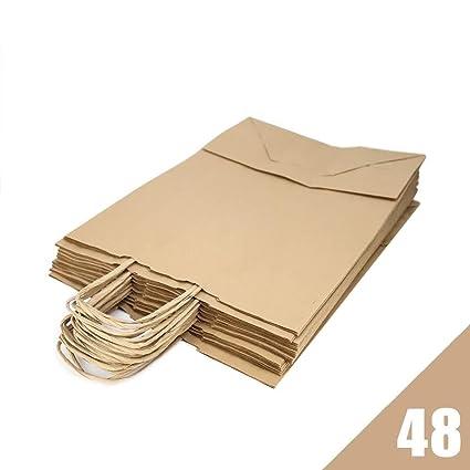 RUBY - Bolsas papel kraft marron con asa rizada, ideal para ...