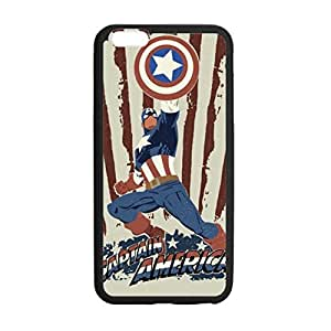 BESTER Unique Design Marvel Captain America Vintage Case Hard Durable Case Cover Skin for Iphone 6 with 4.7