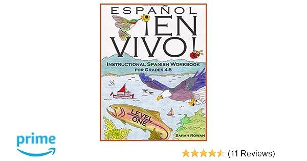 Amazon.com: Español En Vivo Level 1: Instructional Spanish Workbook ...