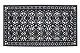 A1 Home Collections A1HCCL68 Doormat A1HC First Impression Rubber Paisley, Beautifully Hand Finished,Thick, 36X72, Black Estate 36'' X 72''