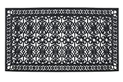 This stylish & unique doormat makes a perfectly fun addition to any porch, patio area or door. Use this mat to catch dirt as your guests enter your home or as decoration to show off your love of felines. This door mat withstands seasonal ...