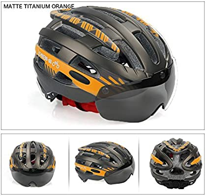 22-24 V-Best Bike Cycling Helmet with Detachable Magnetic Goggles Visor Shield Adjustable Men Women Road /& Mountain Biking Bicycle Helmet Safety Protection Standard Size