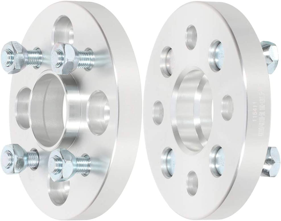 ECCPP 4x100mm 20mm Wheel Spacers hubcentric 4 Lug 4x100 to 4x100 fits for Honda CRX Prelude Civic Civic del Sol Civic for Acura Integra Wheel Spacers with 12x1.5 Studs