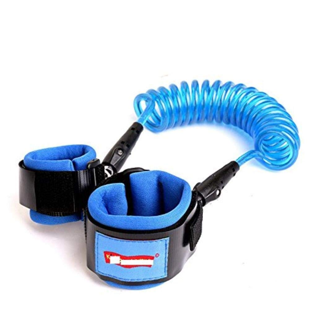 Anti Lost Safety Wrist Strap, Baby Harness and Reins for Toddlers Walking Security Lock Retractability Wrist Link Belt Set Blue Traveling Shopping Helper (Color : C)