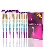 Best U-Beauty Liquid Foundation Brushes - Kabuki Makeup Brush Set - 10PCS SONGQEE Unicorn Review